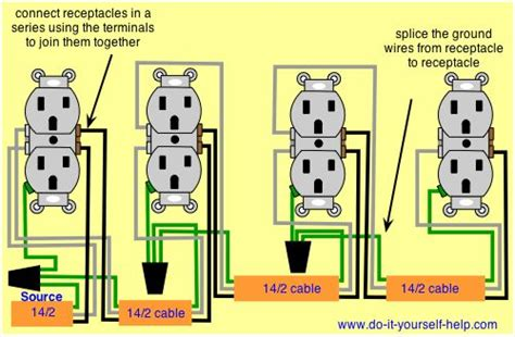 wiring diagram   series  receptacles agnes gooch
