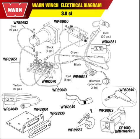 warn winch 2 5ci wiring diagram warn winch a2000 wiring