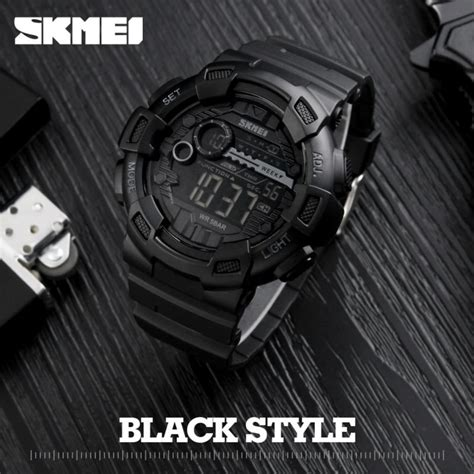 Jt0122 Jam Tangan Pria Skmei Sport Digital Silicone 1 skmei jam tangan digital pria dg1243 black jakartanotebook