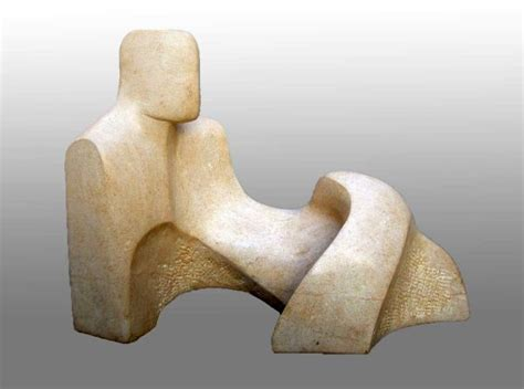 sculpture reclining figure carved abstract