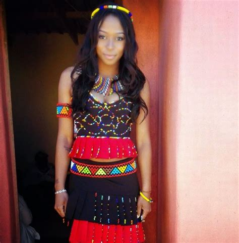 zulu design clothes picture of the day dj zinhle in zulu traditional wear