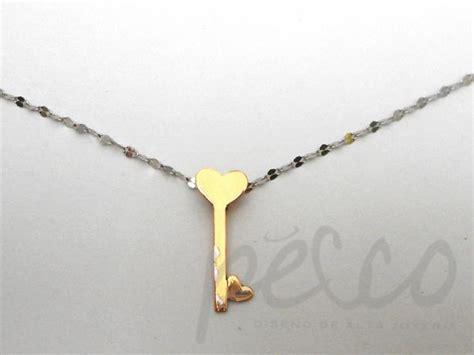cadena de oro blanco colombia cadena dije elaborado oro blanco rosado 18 joyas collares