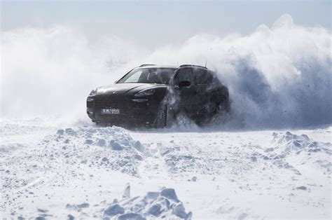 porsche snow new porsche cayenne coming august 29 automobile magazine