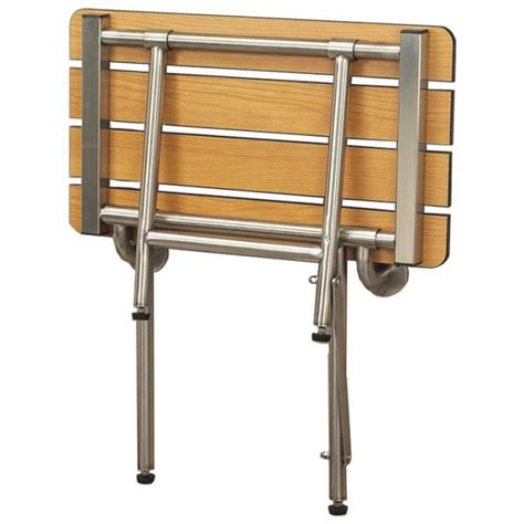 folding bench seat legs freedom folding shower bench with legs slatted teak 18
