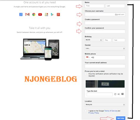 cara membuat email di gmail dengan hp cara membuat email di gmail dengan mudah njo ngeblog
