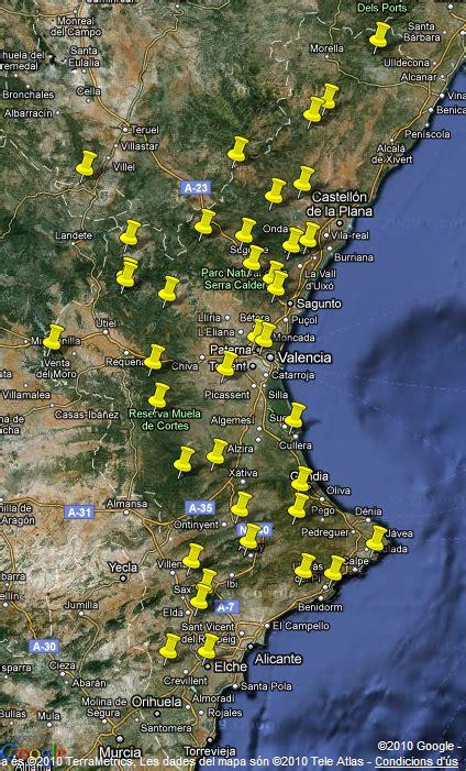 nuevo mtodo de valoracin en la comunidad valenciana nuevo gadget ahora las rutas en un mapa de la comunitat