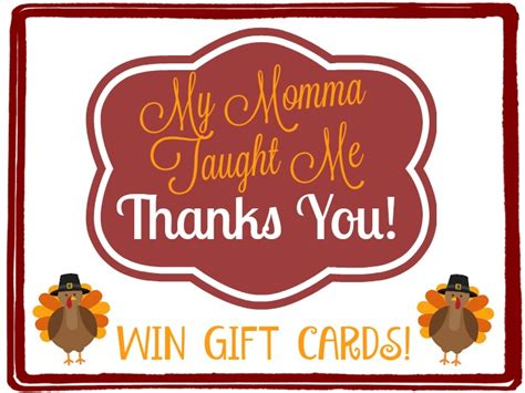 Wegmans Grocery Store Gift Cards - my momma taught me thanks you with grocery gift cards winners choice my momma