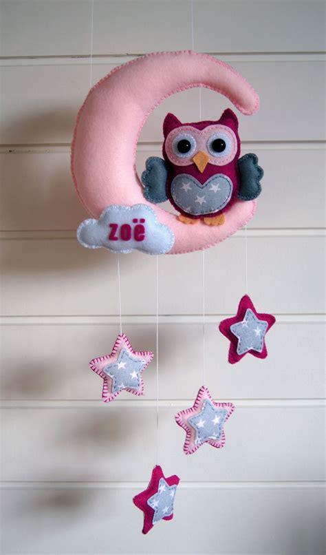 pattern for felt owl mobile handmade by joho uil maan en sterren van vilt felt