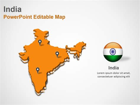 India Powerpoint Map Slides India Map Ppt Slides Powerpoint Map Slides Of India Powerpoint India Map Ppt Template