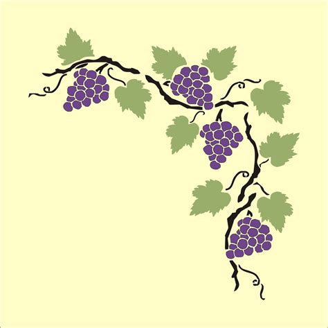 printable vine stencils grape vine stencil cliparts co