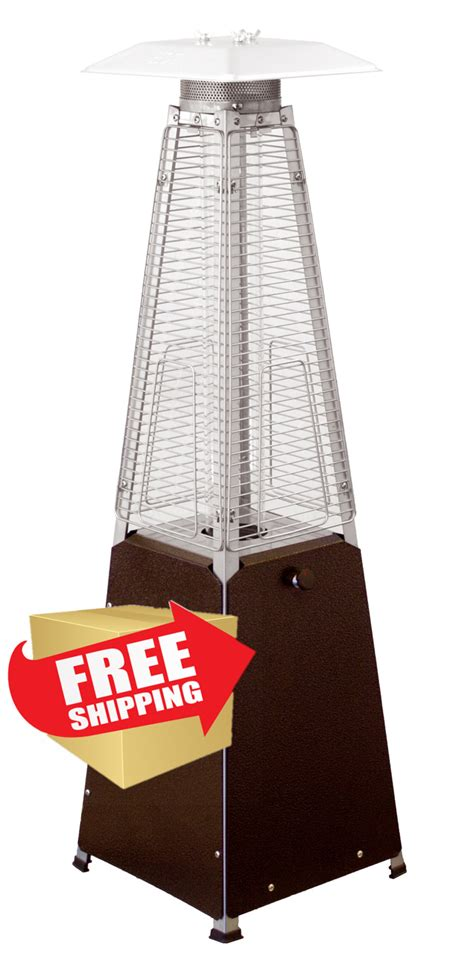 Patio Heater Top Replacement by Tabletop Quartz Glass Heater Hammered Bronze Finish
