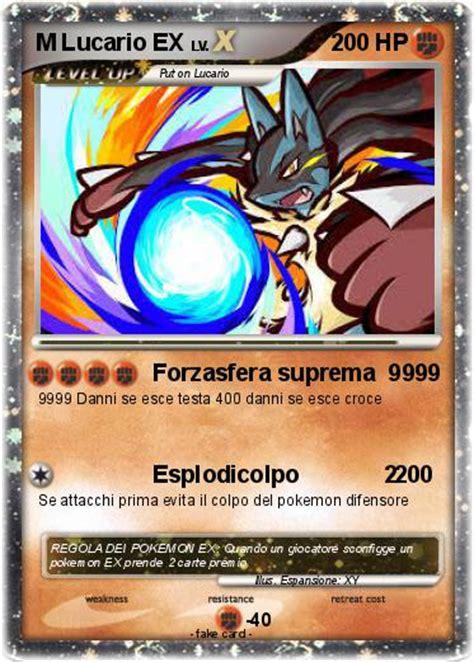 Ex M pok 233 mon m lucario ex 5 5 forzasfera suprema 9999 my