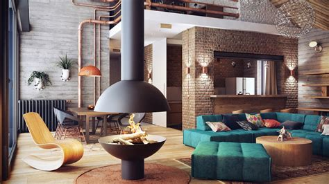 loft interior industrial lofts