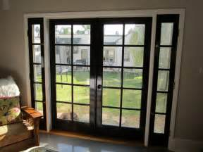 Installing Drapes Doors Amp Windows Beautiful French Doors With Black Color