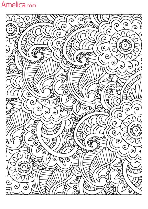 pattern art therapy coloring antistress download print free patterns