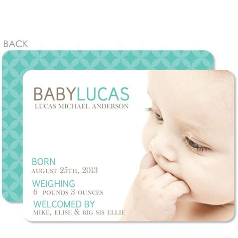 clean simple birth announcement pipsy