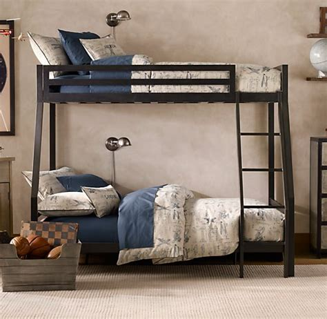 industrial bunk beds industrial loft twin over full bunk bed