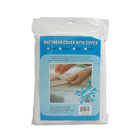 bed plastic cover twin size bed mattress cover zipper plastic waterproof bed bugs protector mites ebay