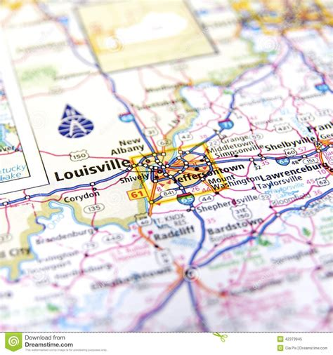 louisville map louisville map stock photo image 42373945