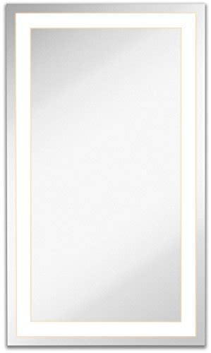 lighted led frameless backlit wall mirror polished edge