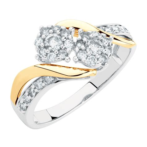 Engagement Ring With 1 Carat Tw Of Diamonds In 14ct Yellow by By My Side Engagement Ring With 1 2 Carat Tw Of Diamonds