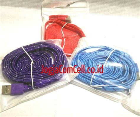 Charger Model Tali Sepatu Murah For Samsung Oppo Asus Xiaomi Leno T19 kabel data gepeng 3m for android