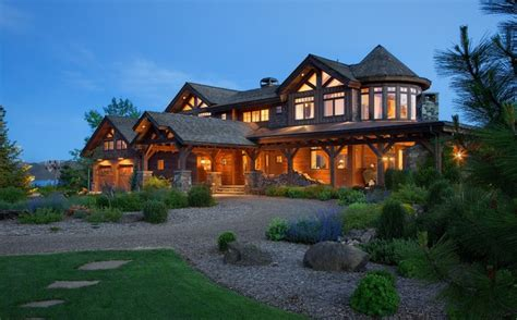 new house in sand point cast architecture sandpoint idaho timber frame home traditional exterior