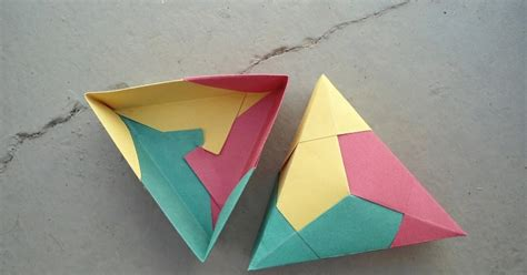 Fabulous Origami Boxes - adobracia origami modular caixa triangular diagrama
