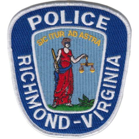 Richmond Va Arrest Records Officer Robert D Richmond Department Virginia