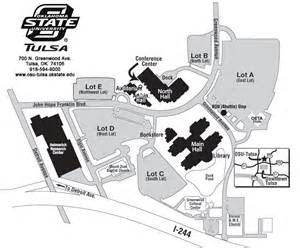 Oklahoma State University Campus Map by Campus Map Oklahoma State University Tulsa