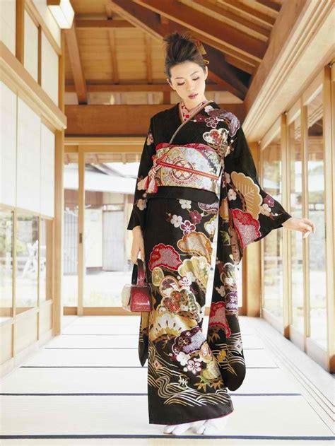 Hitam Black Model Kimono 25 best ideas about japanese kimono on traditional japanese kimono traditional