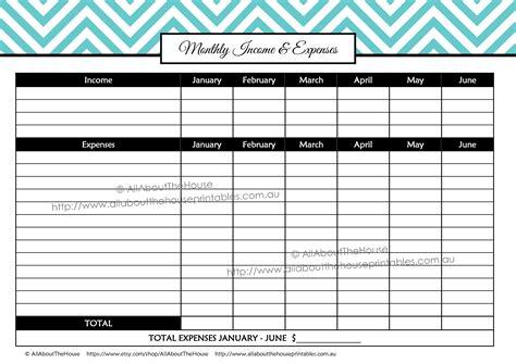 Budget Planner Calendar