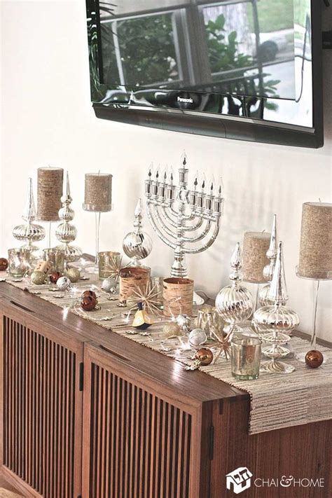 hanukkah home decor 5 other places to decorate for chanukah chai and home