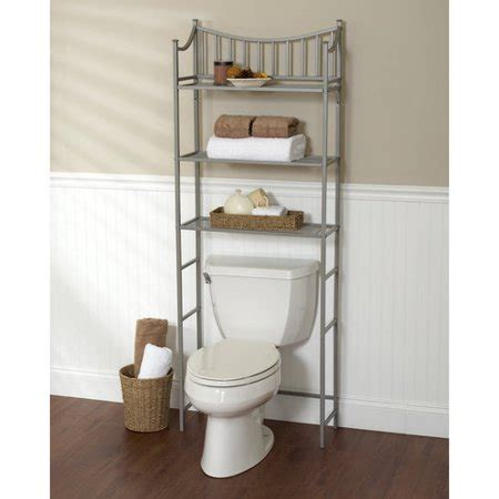 bathroom storage rack metal spacesaver bath storage rack 3 shelf satin nickel