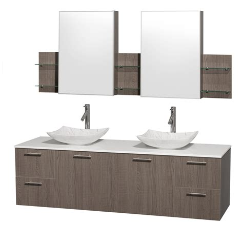 amare bathroom vanity wyndham collection wcr410072dgowsgs6med amare 72 inch