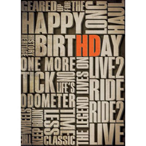 Free Printable Harley Davidson Birthday Cards H D 174 Verbiage Birthday Card At Ace Branded Products