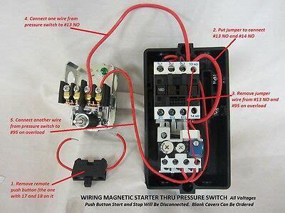3hp Single 1 Phase Magnetic Starter Motor Control 208 240v