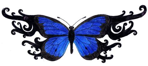 blue butterfly tattoo by 3mmmmma on deviantart