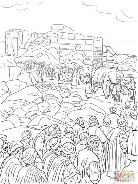 coloring page battle of jericho coloring pages battle of jericho az coloring pages