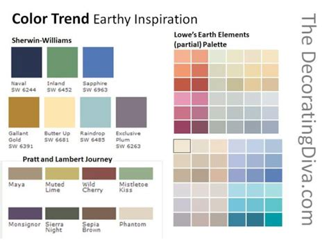 nature inspired paint color palettes decorating