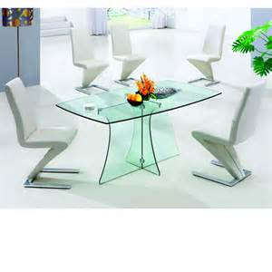 4 Seater Glass Dining Table Sets Dining Room Furniture Furniture In Fashion