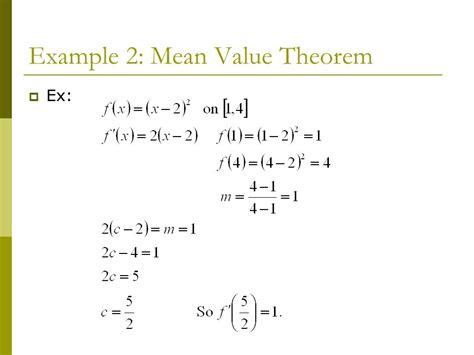 chapter 4 applications of derivatives section 4 2 mean