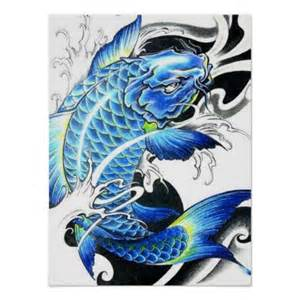 Blue Koi Fish Cool japanese blue koi fish