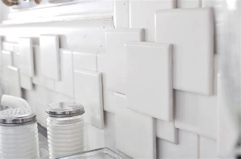 layered backsplash beautiful layered tile backsplash makeover do it