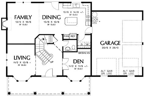 floor plans with garage on side colonial plan with front or side garage 69313am