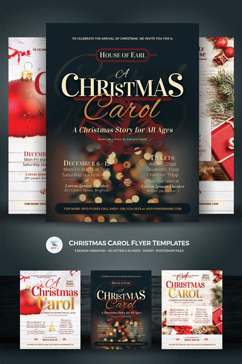 Christmas Carol Flyers Corporate Identity Template 73871 Caroling Flyer Template