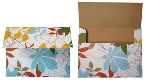 make envelopes out of patterned paper how about orange