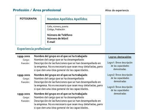 Modelo Curriculum Vitae Combinado 100 Modelos Y Plantillas De Curr 237 Culum Vitae Para Descargar Gratis En Word Cursosmasters