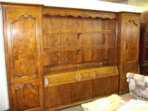 bedroom wall unit headboard quality resale home furnishings henredon king size giant