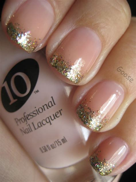 Rosa Glitzer Nägel 5007 by Goose S Glitter The 12 Days Of Nails Day 6
